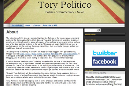 Denied access: Tory Politico