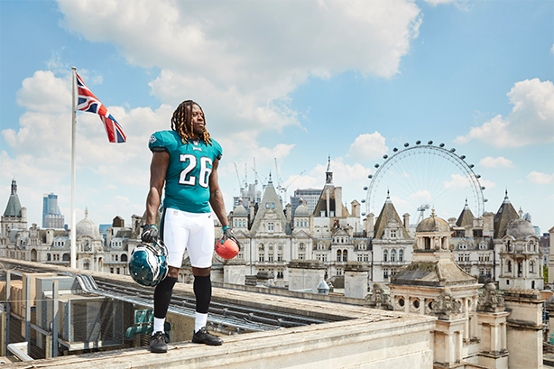 London-born Jay Ayaji was a star draw in the Philadelphia Eagles recent visit.