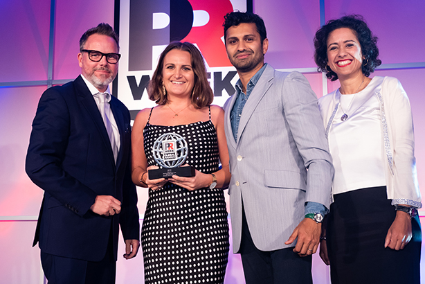 Edelman Dubai received the award for Best Campaign: Middle East with #HearItFromMe for LinkedIn