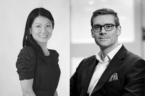 Edelman's Michele Cheng and Simon Paterson.