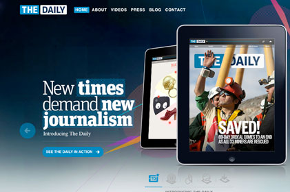 iPad newspaper: The Daily