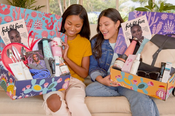The FabFitFun Box includes a curated collection of full-size products