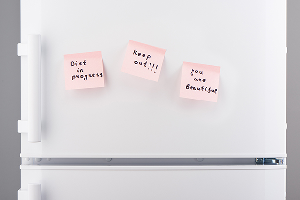 Rate your satisfaction with your habit out of 10 and record it on the fridge, says Reath (©ThinkstockPhotos)