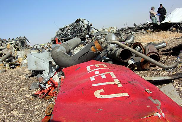 Crash investigators inspect debris (Credit: Alaa El Kassas/Anadolu Agency/Getty Images)