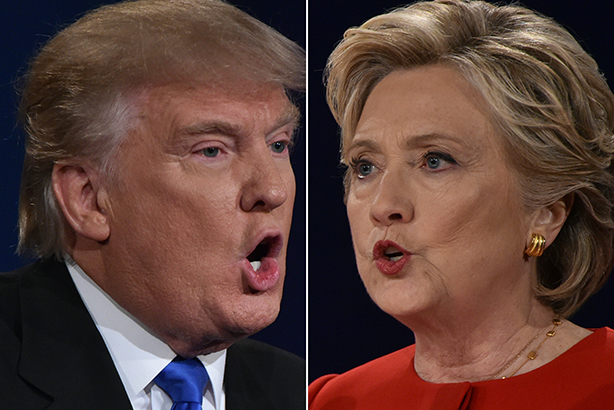 Trump squared up to Clinton in the first presidential debate this week (pic credit: AUL J. RICHARDS/AFP/Getty Images)