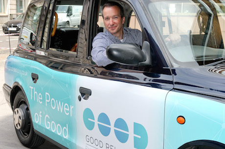 Richard Moss: In a branded taxi to mark the change of name