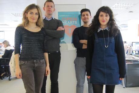 New creative team: (Left to right) Fernanda Gasparin, Oliver Dove, Christian de Cianni, Lauren Zeitoun