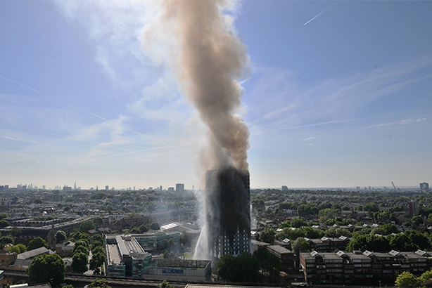 The Grenfell Tower block fire, in which 12 people have so far confirmed to have died (© Victoria Jones/PA Wire/PA Images)