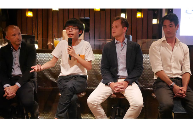 Joshua Wong (second from left)
