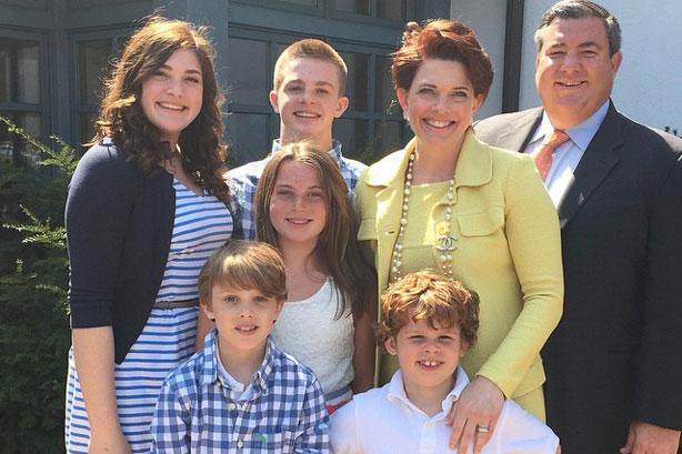 Kathleen Henson and her family