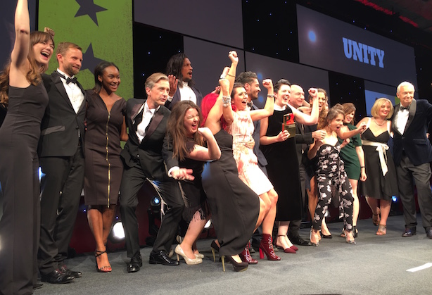 Unity was was one of the big winners at the 2016 PRWeek Awards