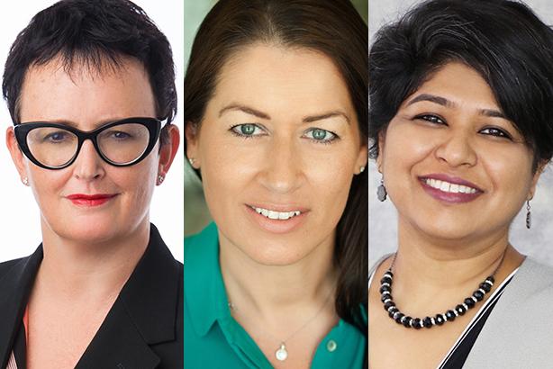 International women: (l-r) Patou Nuytemans, Loretta Ahmed, Elizabeth Sen
