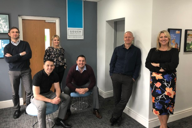 The GBW intu team, from L-R: David Rowberry, Sam Wright, Margot Kimask, Richard Harris, Darren Foxall and Michelle Wright