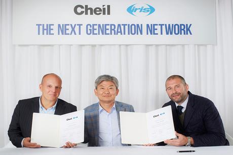 Partnership: (left to right) Stewart Shanley, iris; Daiki Lim, Cheil; Ian Millner, iris