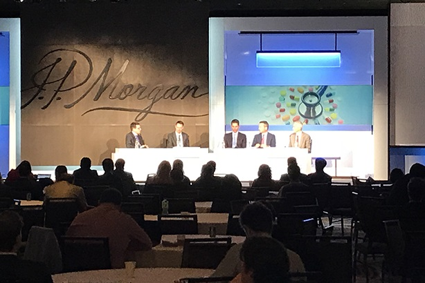 One of the many all-male panels at the JP Morgan Healthcare Conference in San Francisco.
