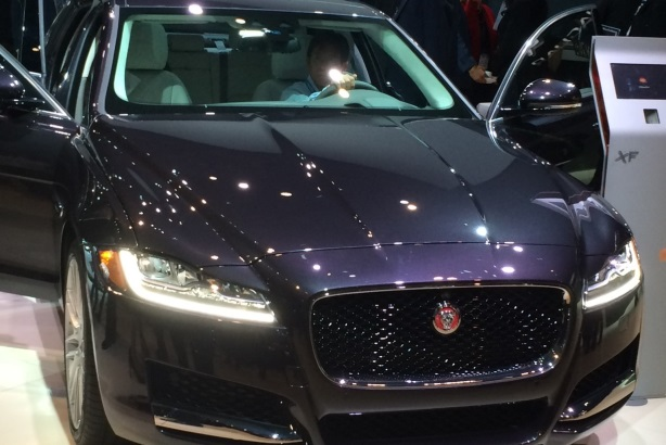 Jaguar debuted its 2016 XF vehicle at the New York Auto Show.