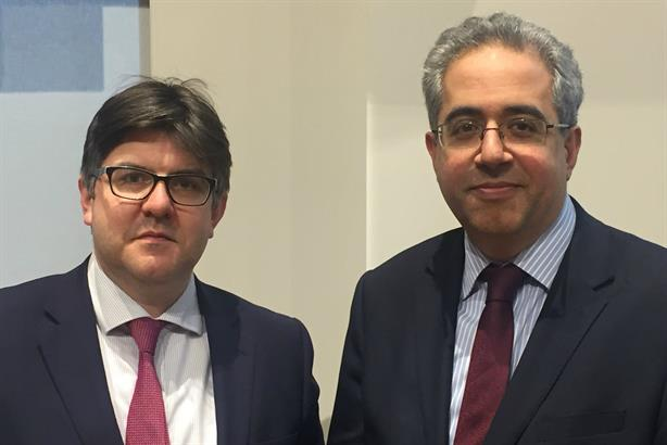 James Drewer (left) with new Maitland executive chairman Razi Rahman