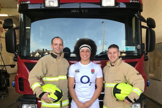 Kent Fire & Rescue smoke alarm video campaign stars England Women rugby player Shaunagh Brown