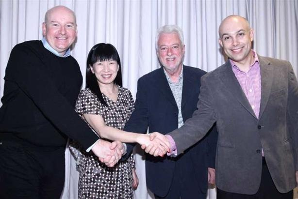 (from left to right): Chris Lewis, Claudia Choi, Euan Barty, Andy Oliver