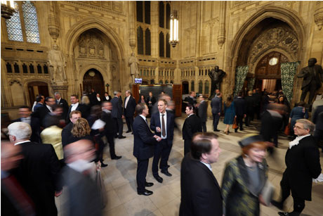 Westminster: The Members' Lobby (Credit: Getty Images)