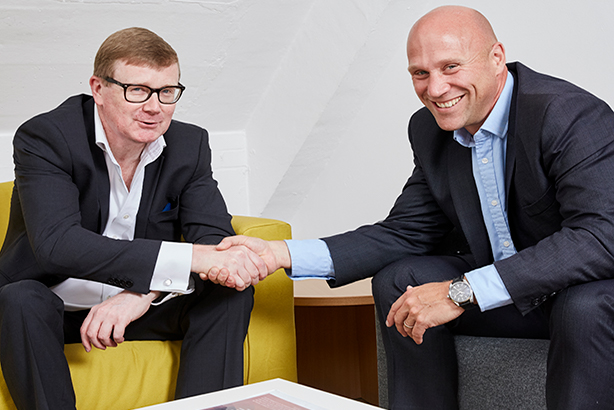 CCM founder Mike Richards (left) and MRM CEO Andrew Appleyard