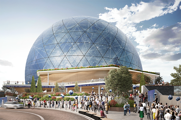 A design render for the MSG Sphere