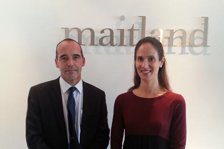 Martin Barrow and Laura Conaghan: Joined Maitland this week