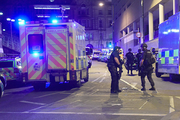 Police operation: At the scene of the Manchester Arena terrorism attack
