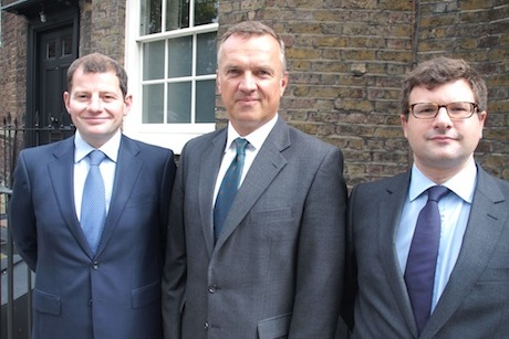 Neustria Partners: (l-r) Henderson, Bailhache and Gorman