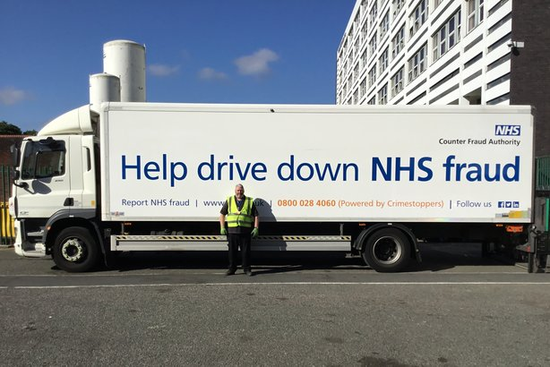 The NHSCFA #trackthetruck campaign aims to raise public awareness of fraud in the health service (pic credit Gary Blackhurst)