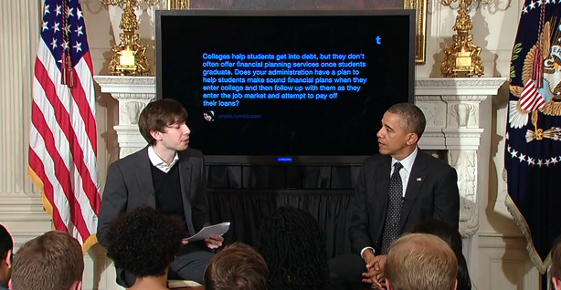 President Obama and Tumblr founder David Karp