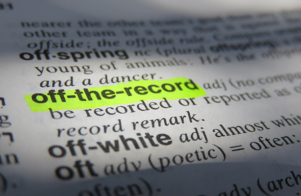'Off the record' can have different shades of meaning, Supreme Court warns (© Thinkstockphotos)