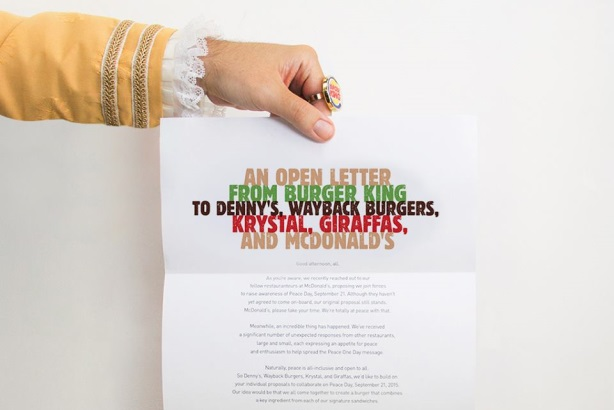 Bye, McDonald's: Burger King continues Peace Day mission with ...