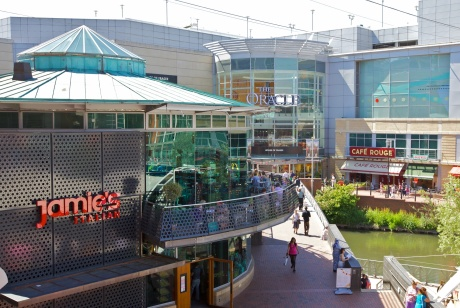 The Oracle shopping centre in Reading