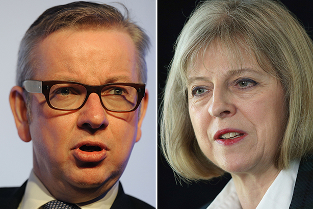 Racing for Downing Street: Gove and May (Credit: PA/PA Wire)