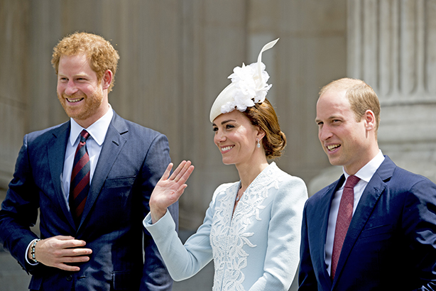 Royals: Waving goodbye to comms man Loughran (Credit: Robin Utrecht/ABACAPRESS.COM/PA Images)
