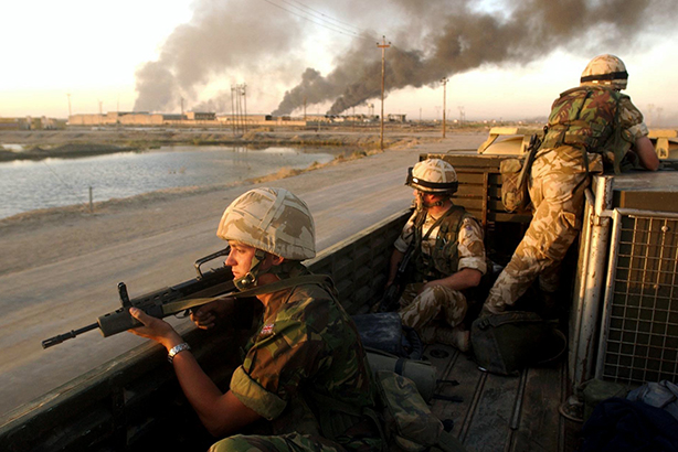 Iraq war: UK forces in Basra, Iraq in 2003 (Credit: AP Photo/Tony Nicoletti/Pool/PA)