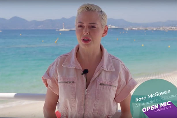 Philip Morris International paid actor Rose McGowan to attend its open mic sessions at Cannes Lions