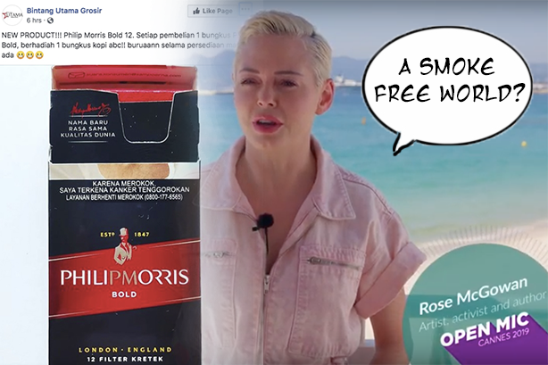 Philip Morris wants a smoke free world in Cannes, but is happy to launch new cigarettes in Bali.