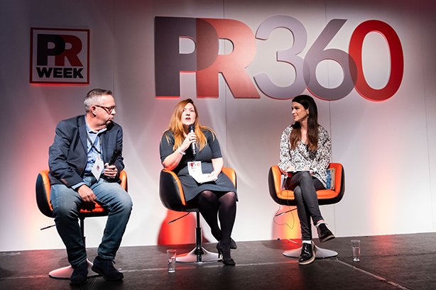 PR360 panel on mental health: Graham Goodkind, Emma Mamo and chair Zöe Clapp.