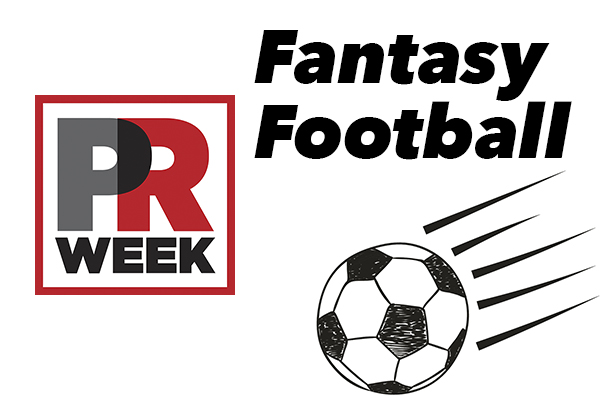 Who has PRWeek selected in its industry fantasy football team?