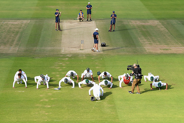 Pakistan: Post-match celebrations (credit: Gareth Copley/Getty Images)