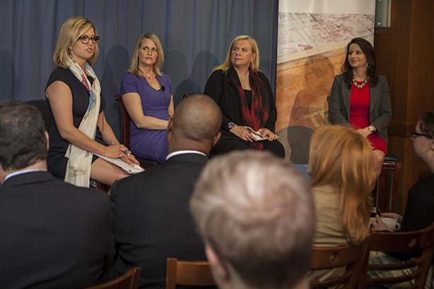(l-r) Brianna Keilar, Colleen McCain Nelson, Julie Mason, and Christina Bellantoni