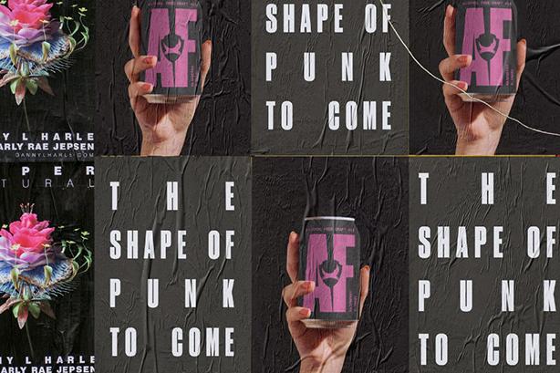 A graphic illustration of Manifest's original Punk AF creative concept