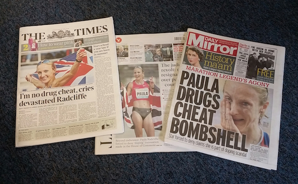 Front pages: Many papers led with the Radcliffe story