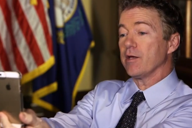 Senator Rand Paul held a Snapchat interview this week.