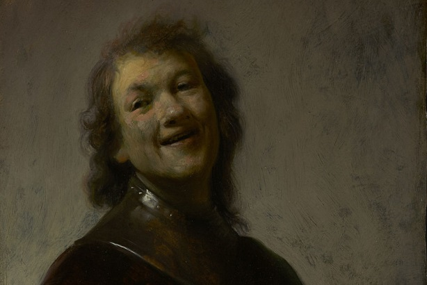 One of Rembrandt's early self-portraits