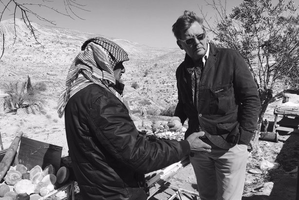 On the ground: Whitehall man Richard Caseby gathers audience insight near Al-Karak, Jordan