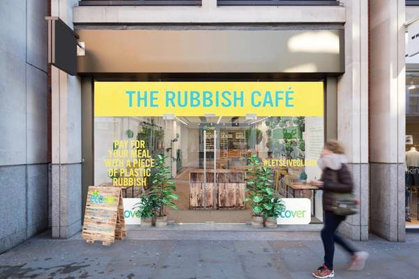 The Rubbish Café: Ecover's live experience concept created by Red