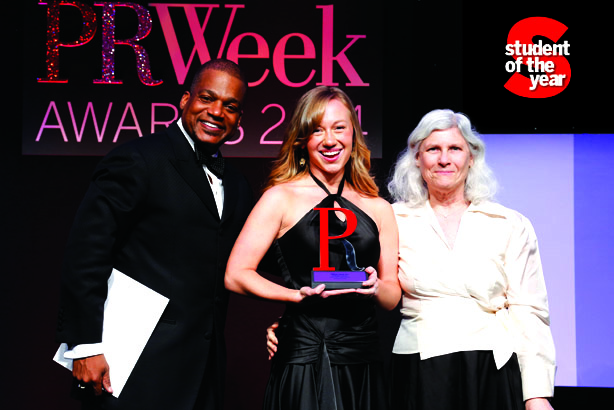 Liberty University's Sarah Corder was named PR Student of the Year in 2014.